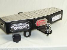 """24"""" Wide Hitch Step Extension with 2 - 6"""" LEDs Free 2"""" Trailer Towing Ball"""