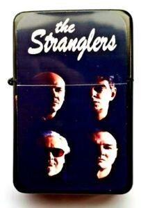 THE STRANGLERS,   Black Petrol Lighter. in velvet pouch.