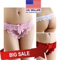 Stretch Rose Lace Floral Thong Panty Underwear Lingerie Boudoir Boyshorts 2X-6XL