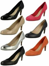 Ladies Clarks Fashion Court Shoes - Carlita Cove
