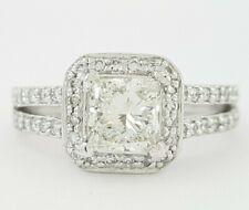 Scott Kay 1.38 ct Palladium Princess Cut Diamond Halo Engagement Ring GIA