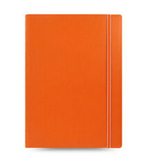 New Filofax A4 Size Refillable Leather-Look Ruled Notebook Diary Orange 115025
