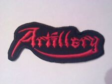 ARTILLERY,SEW ON RED EMBROIDERED PATCH