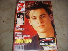 TELE 7 JOURS 1563 05.1990 Johnny DEPP Stepfanie KRAMER Claude FRANCOIS ZARAI