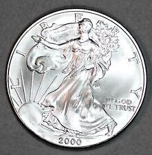2000 UNCIRCULATED AMERICAN SILVER EAGLE, 1oz 0.999 FINE SILVER