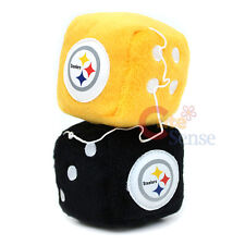NFL Pittsburgh Steelers Plush Fuzzy Dice Team Logo Auto Accessories