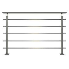 DOLLE Geländer modern Aluminium eckiger Handlauf Balkon Terrasse Brüstung 150 cm