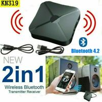 2 in1 Wireless Bluetooth Audio Transmitter Receiver HIFI Music/Adapter RCA AUX