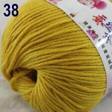 Sale New 1Ball x 50g Cashmere Silk Wool Hand Knit Wrap Shawls Crochet Yarn 38