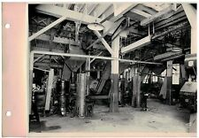 Vintage 1930s  B&W Photo West Bend WI Cannery Closing machines