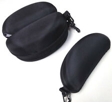 Two Black Zipper Cases with Belt Clip for Sunglasses or Safety Glasses