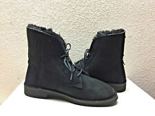 UGG QUINCY BLACK COMBAT-INSPIRED SHEEPSKIN BOOTS US 8.5 / EU 39.5 / UK 7 NIB