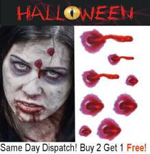Halloween Zombie Scars Tattoos Fake Bullet Hole Wound Blood Scar Make-Up Kit UK