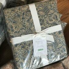 Pottery Barn Larsa Duvet Cover Set Blue King 2 Standard Shams Kalamkari New
