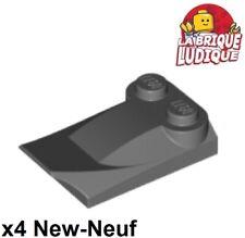 Lego - 4x Brique Brick Modified 2x3x2/3 wing gris foncé/dark b gray 47456 NEUF
