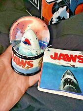 Universal City Studios Jaws Movie Poster Promo Light Up Shark Mini Snowglobe