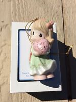 """Precious Moments """"Love Is The Best Gift Of All"""" Dated 2011 Ornament #111002"""