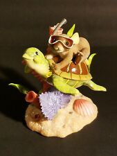 "Charming Tails Fitz & Floyd Figurine ""Riding The Tide Of Friendship"" Ex Cond."