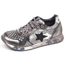 E3762 sneaker bimba grigio laminato NATURINO scarpe shoe baby kid girl