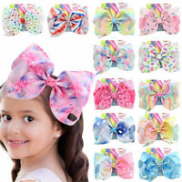 Jojo Girl Rainbow Bows Hair Clip Grosgrain Large Ribbon Bow Hairpin 57 Styles