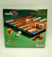 Noris Backgammon Travel Pocket Game With Magnetic Pieces Plastic Folding Case