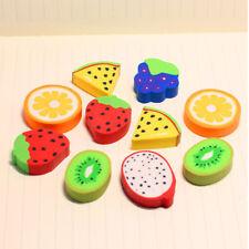 4X gomme à effacer fruit crayon en caoutchouc enfants Creative papeterie cadeau