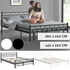 Metallbett Bettgestell Metall Schlafzimmer Bett Doppelbett + Lattenrost Juskys®