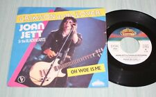 JOAN JETT & THE BLACKHEARTHS 45 TOURS CRIMSON AND CLOVER / OH WOE IS ME TBE