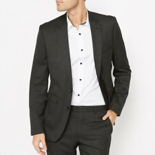 LA REDOUTE MENS SLIM FIT SUIT BLAZER CHARCOAL SIZE 42 NEW (ref 329)