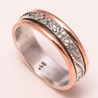Solid 925 Sterling Silver Spinner Ring Meditation Ring Statement Ring Size sr676