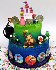 Mario Brothers 23 Piece Birthday Cake Topper Set with Mario, Luigi, Donkey Kong