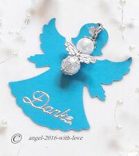 Gastgeschenke- Engelkarte Blau + Engel-Hochzeit -Taufe -Kommunion DANKE