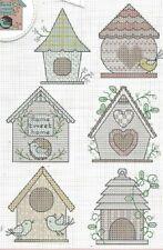 Bird House Card Motifs Cross Stitch Pattern (a1b7m90)