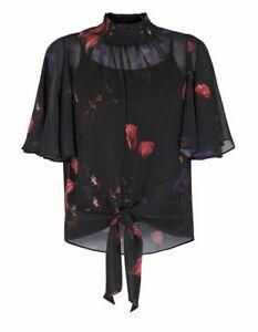 Women Ladies Coast Nyla black floral top