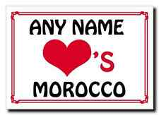 Love Heart Morocco Personalised Jumbo Magnet