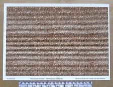 "OO/HO gauge (1:76 scale) ""Yellow/brown roof shingles"" self adhesive vinyl - A4"