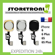 BOUTON HOME + NAPPE IPHONE 6 / 6G / 6S / 6 PLUS / 6S PLUS - NOIR / ARGENT / OR