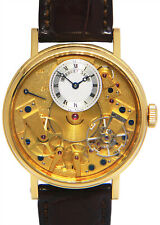 Breguet Tradition 7037 18k Yellow Gold Mens 37mm Watch Box/Papers 7037BA/11/9V6