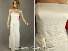 New JS COLLECTIONS Ivory Wedding Dress Formal Evening Gown Pearl Waist Belt 10