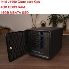 4 Bay NAS Desktop Server  Intel J1900 Quad-core cpu 4GB ram For Synology