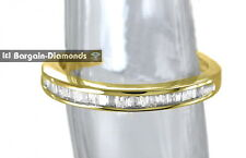 diamond wedding anniversary spacer ring .15-carat 925 yellow size-7 band