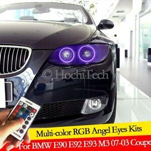 For BMW 3 Series E90 E92 E93 M3 2007-2013 Angel Eyes LED RGB Multi-color Lights