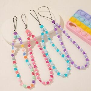 Mobile Phone Charm Beads Mobile Phone Anti-Lost Lanyard Handmade For Women