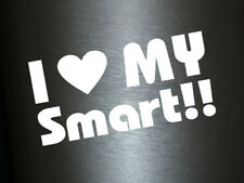 1 x Plott Aufkleber I Love my Smart Auto Tuning Sticker Herz Liebe Decal OEM Gag