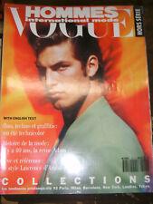 VOGUE hommes Hors-série N°15 Printemps - Eté 1992 Collections mode revue Adam