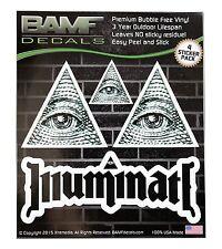 Illuminati All Seeing Eye Lifestyle Decal Kit Includes 4 Premium Stickers