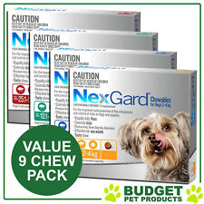 NexGard For Dogs Flea Tick Treatment - 9 CHEW VALUE PACK