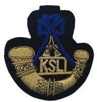 King's Shropshire Light Infantry, Blazer Badge Wire Bullion, LI-EMB-0010