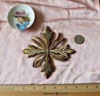 """French Antique c1860-70 Gold Metallic Priest/Ecclesiastical 5"""" Emb Applique"""