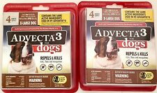 Advecta 3 Flea and Tick Topical Treatment Control X-Large Dog over 50 lbs 2 Pack